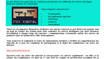 Md rob19 appel   candidatures